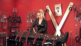 Leather Mistress Milking