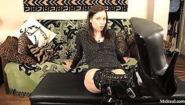 BW - Dominated by Hooker Boots (Boot Worship)